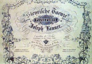 Steyrische Tänze - Titelblatt der Erstausgabe für Klavier